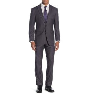 Perry Ellis Grey Two Button Slim Fit Suit